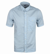 Cp Company Sky Blue Short Sleeve Button-down Shirt