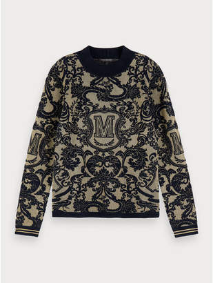 Maison Scotch Intarsia Pullover - Size S