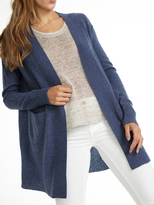 White + Warren Cashmere Pointelle Detail Cardigan