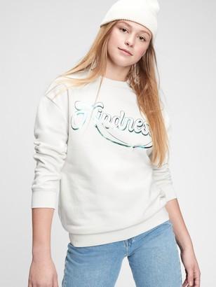 Gap Teen Recycled Kindness Graphic Crewneck Sweatshirt