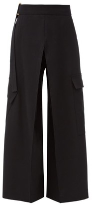 Palmer Harding Palmer//harding - Aurita Recycled-twill Blend Wide-leg Trousers - Black