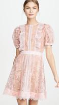 Self-Portrait Sequin Lace Mini Dress