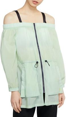 Jordan Utility Cold Shoulder Full Zip Top