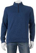 Croft & Barrow Big & Tall Marl Quarter-Zip Sweater