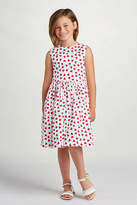Oscar de la Renta Cherry Print Party Dress