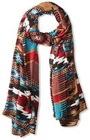 Theodora & Callum Women's Cheyenne Wearable Art Blanket Scarf, Turquoise