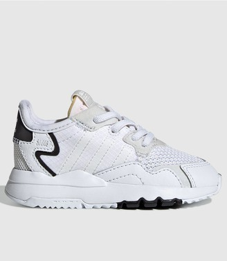 adidas Nite Jogger Infant Trainers - White