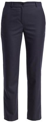 Agnona Wool Flannel Straight-Leg Ankle Pants