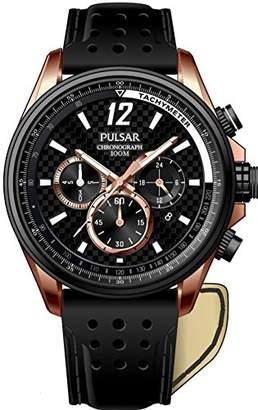 Pulsar Gents Watch Sport Quartz Analogue XL Leather PT3540 x 1