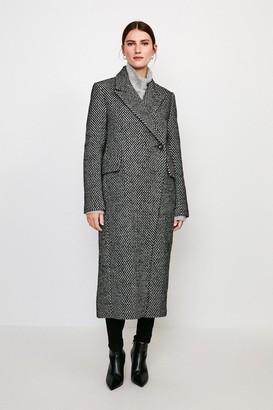 Karen Millen Asymmetric Button Wrap Coat
