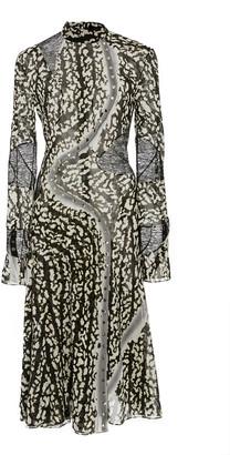 Proenza Schouler Printed Silk-Blend Midi Dress