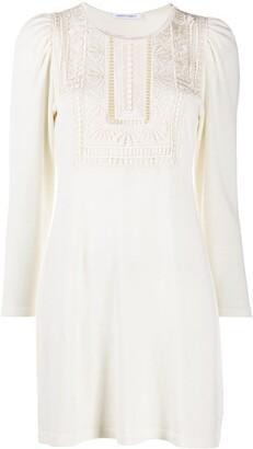 Alberta Ferretti Virgin Wool Knitted Dress