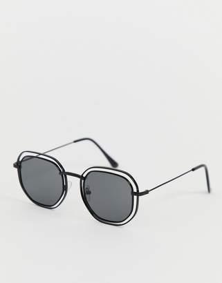 Aj Morgan AJ Morgan square cutout sunglasses in black