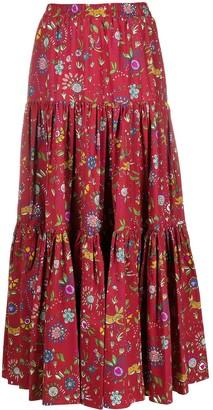 La DoubleJ Floral Print Full Skirt