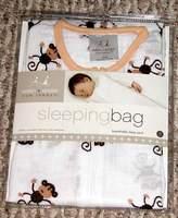 Aden Anais Aden + Anais Muslin Sleeping Bag Brown Monkey - Small
