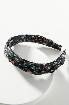 Anthropologie Elspeth Braided Floral Headband By in Black