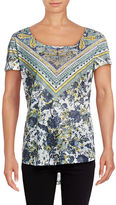 Style And Co. Laser Print Lightweight Tee