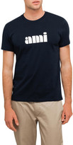 Ami Men Printed Crew Neck Tshirt