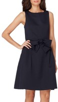 Tahari Petite Women's Bow Fit & Flare Dress