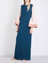 Roksanda Litani bonded crepe gown