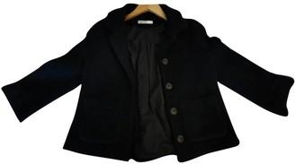 Humanoid Black Wool Jacket for Women