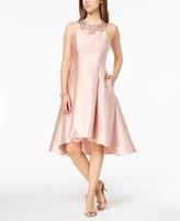 Adrianna Papell Rhinestone High-Low Dress