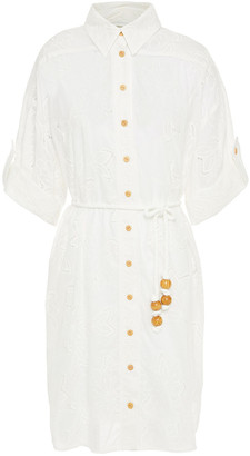 Zimmermann Broderie Anglaise Cotton Shirt Dress