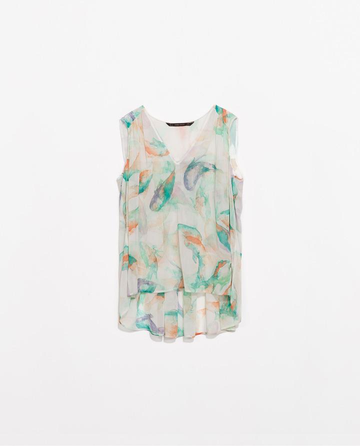 Zara Printed Top