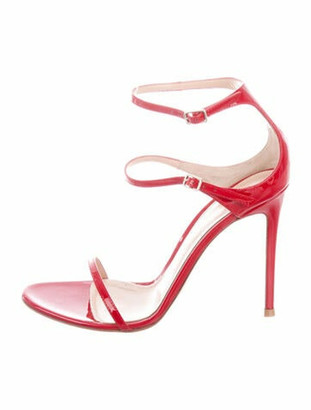 Gianvito Rossi Patent Leather Sandals Red