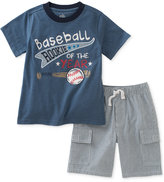 Kids Headquarters 2-Pc. Graphic-Print T-Shirt and Cargo Shorts Set, Baby Boys (0-24 months)
