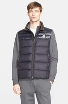 Moncler Men's 'Dupres' Two-Tone Quilted Down Vest