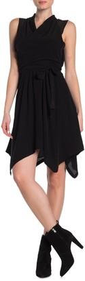 AllSaints Odessa Wrap Style Waist Tie Dress