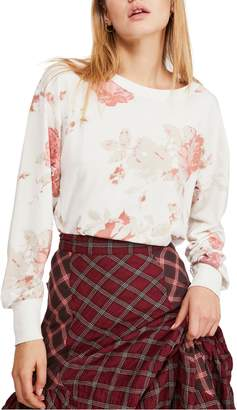 Free People Arielle Print Long Sleeve Tee