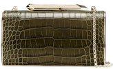 Kotur crocodile effect clutch - women - Brass/Leather - One Size