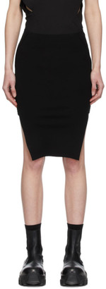 Rick Owens Black Sacriskirt Miniskirt