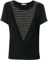 Paco Rabanne eyelet panel T-shirt