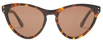 Gucci Logo-engraved Cat-eye Acetate Sunglasses - Womens - Tortoiseshell