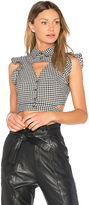 Marissa Webb Denise Gingham Blouse in Black. - size M (also in XS)