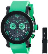 Swiss Legend Men's 30465-BB-01-GRNAS Cyclone Analog Display Swiss Quartz Green Watch