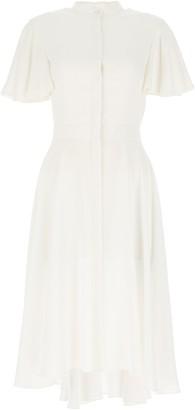 Alexander McQueen Draped High Collar Dress
