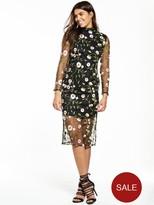 Very Premium Embroidered Mesh Dress