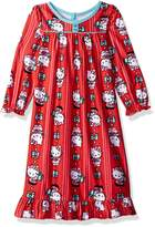 Hello Kitty Toddler Girl's Kitty Holiday Granny Gown Sleepwear