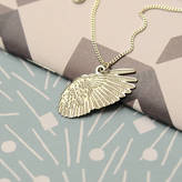 DOWSE Voler: Feathered Wing Charm Necklace