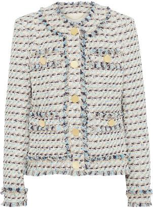 Adam Lippes Frayed Boucle-tweed Jacket