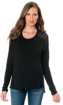 A Pea in the Pod BCBG Long Sleeve Scoop Neck Lace Back Maternity T Shirt