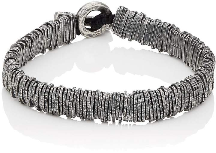 M. Cohen Men's Bar-Code Bracelet