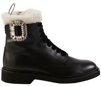 Roger Vivier Viv Rangers fur ankle boots