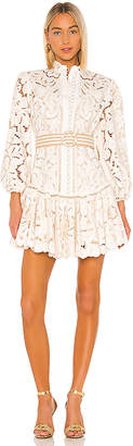 Zimmermann Edie Embroidery Short Dress