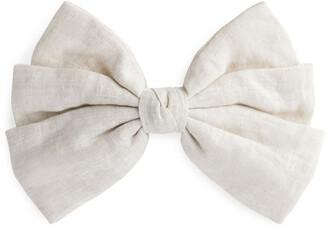 Arket Linen Bow Hair Clip