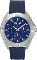 Versace Rue Oberkampf Leather Strap Watch, 46mm